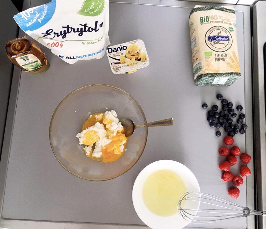 przepis na białkowe pancakes