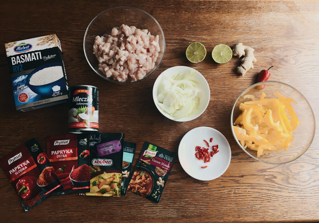 przepis na fit kurczaka curry