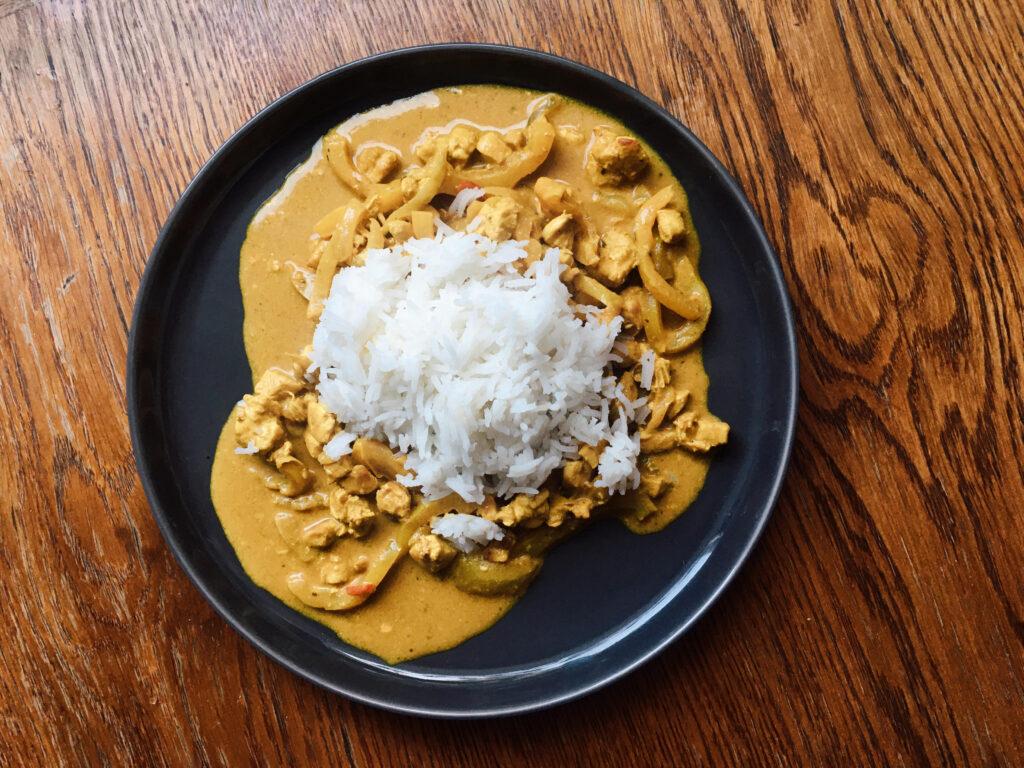 pyszny i szybki obiad kurczak curry