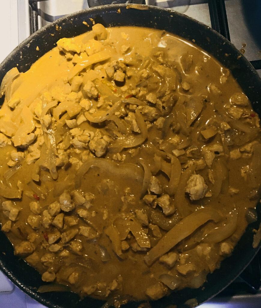 kurczak curry dietetyczny obiad